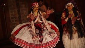FORT COCHIN, India -  January 10, 2015: Kathakali stock video footage