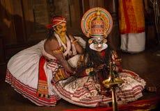 FORT COCHIN, Indien - Januari 10, 2015: Kathakali Royaltyfri Foto