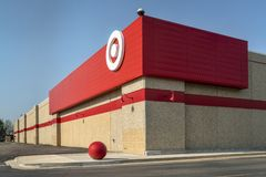 Corner of Target store. Fort Collins, CO, USA - April 30, 2018: A corner of Target store. Target is the second-largest discount store retailer in the United royalty free stock images