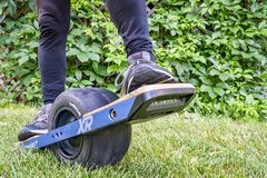 Onewheel, a self-balanced electric skateboard Stock Photo