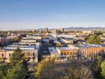 Fort Collins im Stadtzentrum gelegen Lizenzfreie Stockfotos