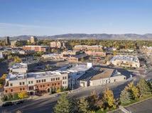Fort Collins im Stadtzentrum gelegen Lizenzfreies Stockfoto