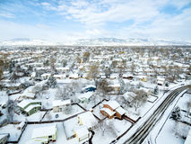 Fort Collins winter cityscape Stock Image