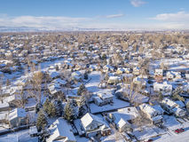 Fort Collins winter cityscape Stock Photos