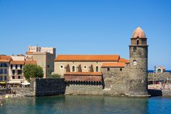 Fort of Collioure. View on the fort of Collioure, France Stock Photography