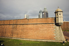 Fort Cond� and downtown buildings Royalty Free Stock Images