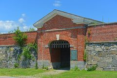 Fort Constitution, New Castle, NH, USA. Fort Constitution aka Fort William and Mary was built in colonial era by British Army in New Castle, New Hampshire, USA Stock Image