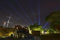 Fort Cornwallis, Georgetown, Penang, Malaysia. Night View Of Fort Cornwallis Stock Photo