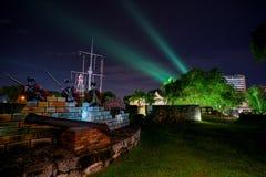 Fort Cornwallis i Georgetown royaltyfria bilder