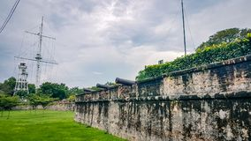 Fort Cornwallis Penang Malaysia  South East Asia. Old english colonial fort  a main tourisit attraction for the island Royalty Free Stock Images