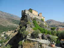 Fort of Corte. The fort of Corte - Corse France Stock Photography