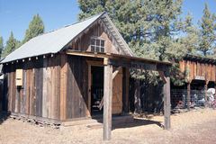 Fort Crook Museum. California log Tack House and barn royalty free stock photography