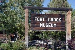 Fort Crook Museum Sign Royalty-vrije Stock Afbeeldingen