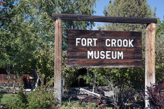 Fort Crook Museum Sign. Rustic Fort Crook Museum Sign in Fort Crook, California in October 2014 royalty free stock images