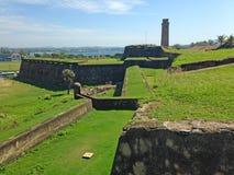 Fort défensif Galé de forteresse de mur photographie stock