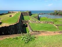 Fort défensif Galé de forteresse de mur image stock