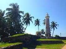 Fort défensif Galé de forteresse de mur, océan et phare photographie stock libre de droits
