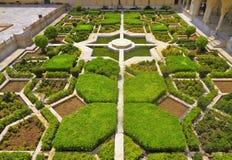 Fort d'ambre d'Indside de jardin de Mughal Photos libres de droits