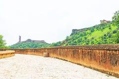 Fort d'Amer Amber et Inde de Jaipur Ràjasthàn de palais Photos stock