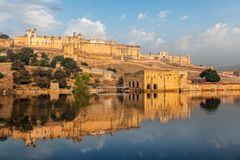 Fort d'Amer Amber, Ràjasthàn, Inde Images stock