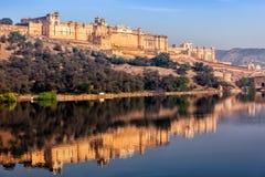 Fort d'Amer Amber, Ràjasthàn, Inde Image libre de droits