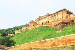 Fort d'Amer Inde et de Jaipur (ambres) Ràjasthàn de palais Images stock