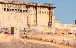 Fort d'Amer, région de Jaipur au Ràjasthàn Image stock