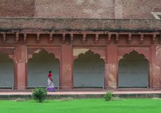 Fort d'Âgrâ à Âgrâ, Inde image stock