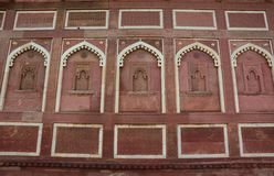 Fort d'Âgrâ à Âgrâ, Inde photo stock