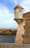 Fort da Ponta da Bandeira, Lagos, Portugal. Detail of the Fort da Ponta da Bandeira at Lagos in The Algarve, south coast of Portugal stock photos