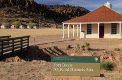 Fort-Davis-nationale historische Site lizenzfreie stockfotos