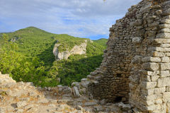 Fort De Buoux w Provence fotografia royalty free