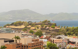 The Fort de France, capital of Martinique. Royalty Free Stock Photography