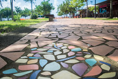 Fort-de-France Martinique colorful sidewalk Royalty Free Stock Photo