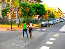 Fort-de-France, Martinique - 8. Februar 2013: Die Schoelcher-Bibliothek, dieses Gebäude wurde zuerst in Paris aufgerichtet Stockbilder
