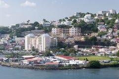 Fort-de-France Martinique harbor stock photo