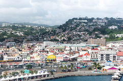 Fort-de-France Martinique harbor view royalty free stock images