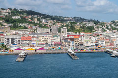 Fort-de-France Martinique pier  and city view Stock Photos