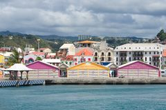Fort de France promenade - Martinique. Tropical island Royalty Free Stock Image
