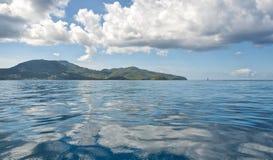 Fort de Francesikt - horisont - karibisk tropisk ö - Martinique Arkivfoton