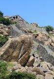 Fort de Gingee avec des étapes et des roches Images libres de droits