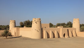 Fort de Jahili d'Al dans Al Ain, Abu Dhabi photo stock