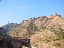 Fort de Jaigarh sur la colline, Amer Fort, Jaipur, Ràjasthàn, Inde Image stock