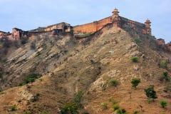 Fort de Jaigarh sur le dessus de la colline d'Eagles près de Jaipur, Ràjasthàn Images libres de droits
