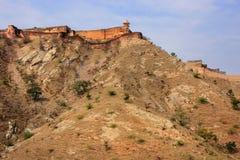 Fort de Jaigarh sur le dessus de la colline d'Eagles près de Jaipur, Ràjasthàn Image stock