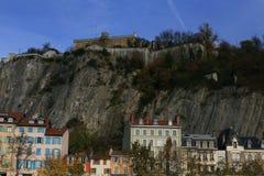 Fort de la Bastille, Chamechaude, Grenoble, sydöstliga Frankrike Royaltyfri Fotografi