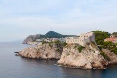 Fort de Lovrijenac dans Dubrovnik Images libres de droits