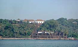 Fort de Reis Magos dans Goa Photographie stock