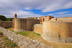 Fort de Salses i Frankrike Arkivbilder