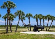Fort De Soto Canon, Floryda zdjęcia stock